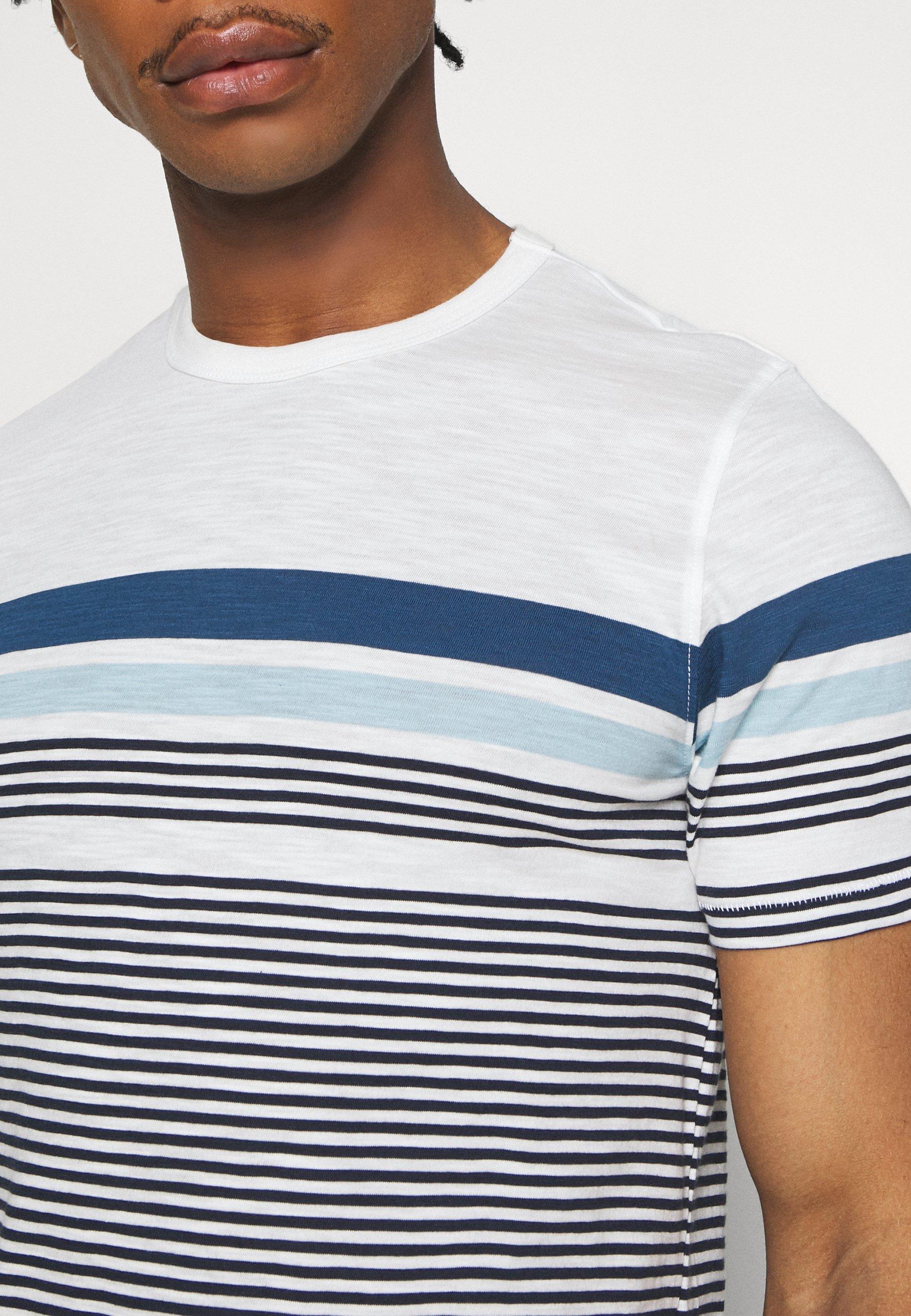 Jack & Jones JCOBLUE TEE CREW  NECK - Print T-shirt - white uIcgf