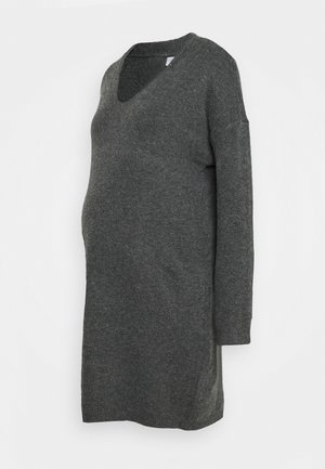 PCMSTAR NECK  - Jumper dress - dark grey melange