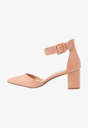 ELSA PART BLOCK HEEL - Pumps - pink