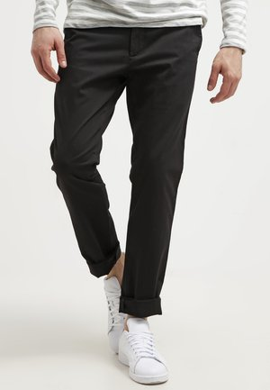 BEST PRESSED INSIGNIA EXTRA SLIM - Chinos - black