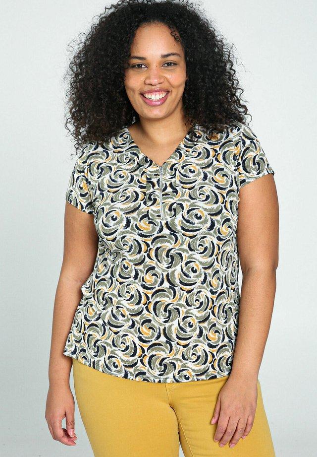 T-shirt print - ocher