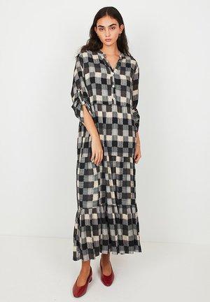 Maxi dress - gray / ecru / black