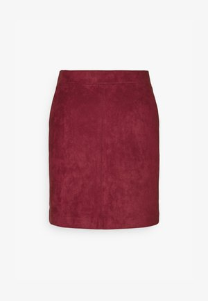 VMDONNA DINA SHORT SKIRT - Mini skirt - cabernet