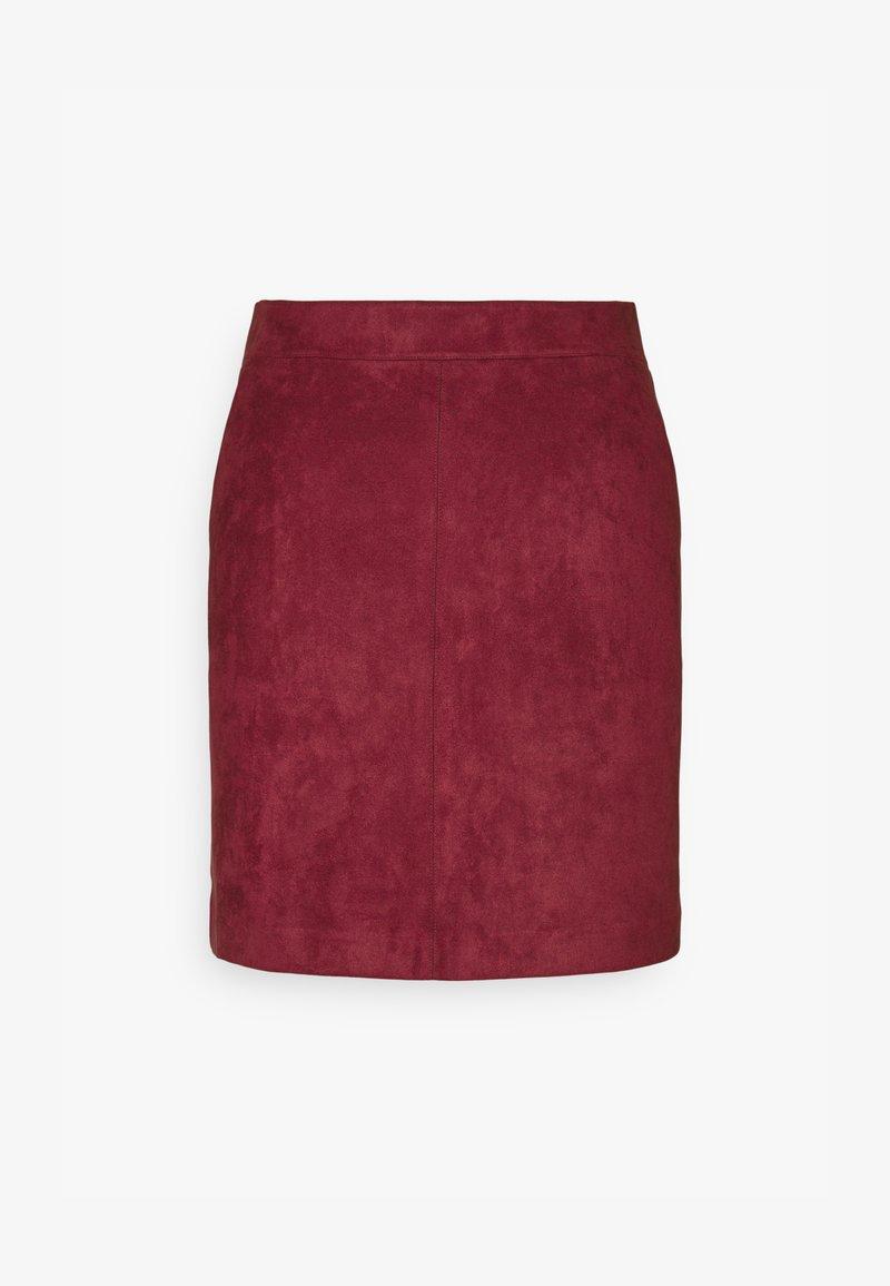 Vero Moda Tall - VMDONNA DINA SHORT SKIRT - Mini skirt - cabernet