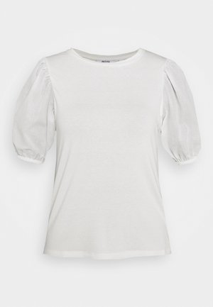 PETITES COTRAST TEE - Print T-shirt - white