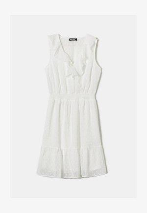 MIT RÜSCHEN - Denní šaty - white