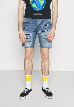 NAJAXSON - Denim shorts - light blue