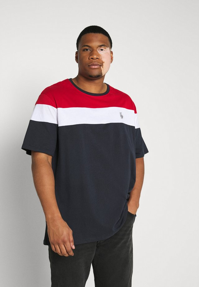 PANEL TEE - T-shirt con stampa - navy