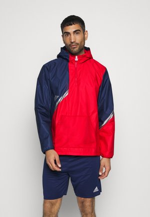 Training jacket - navy blue/scarlet