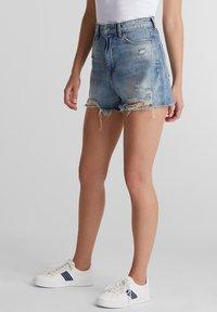 edc by Esprit - FESTIVAL  - Denim shorts - blue medium washed - 3