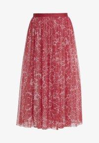 Needle & Thread - FLORAL MIDAXI SKIRT - Áčková sukně - cherry red - 4