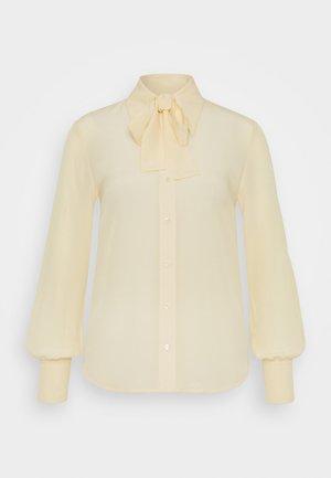 TIE NECK SHIRT - Paitapusero - butter yellow