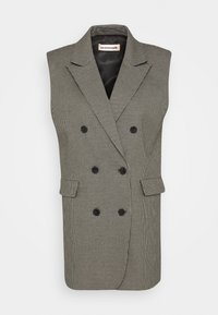 Custommade - MAISY - Waistcoat - anthracite black - 4