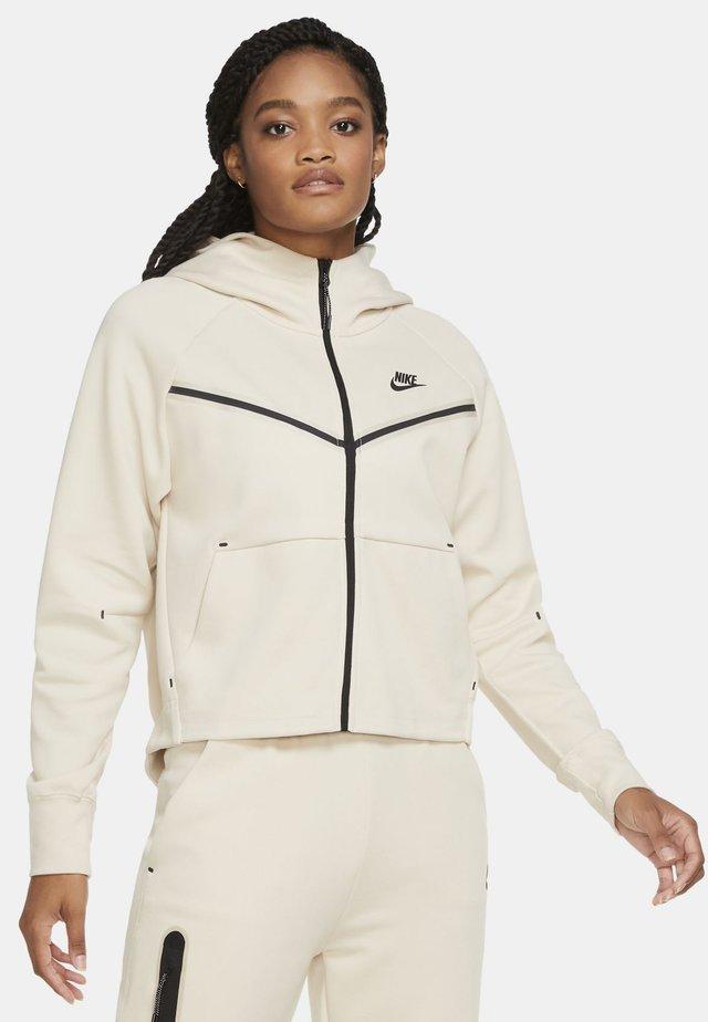 Zip-up hoodie - oatmeal/black