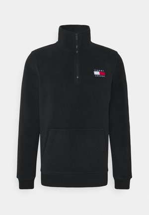 POLAR BADGE MOCK UNISEX - Fleece jumper - black