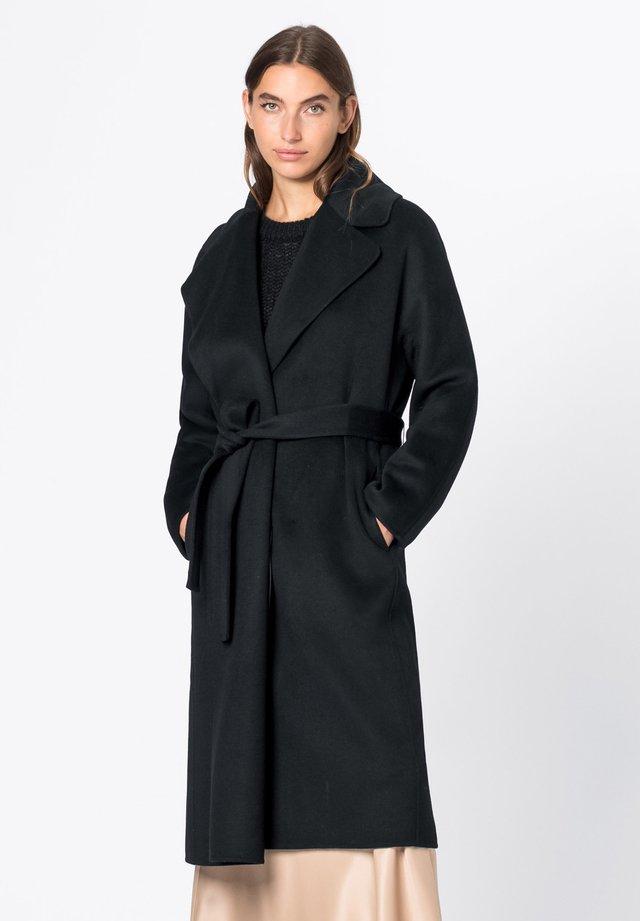Wollmantel/klassischer Mantel - schwarz