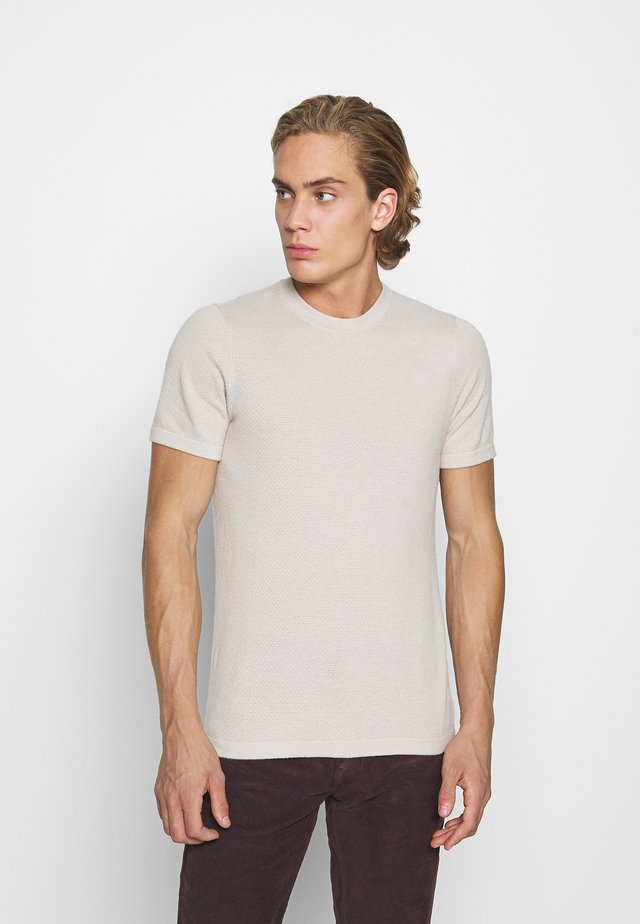 TEE - Print T-shirt - Tan
