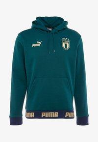 Puma - ITALIEN HOODY - Luvtröja - ponderosa pine/gold - 7