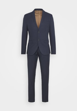 CHECK SUIT - Traje - dark blue