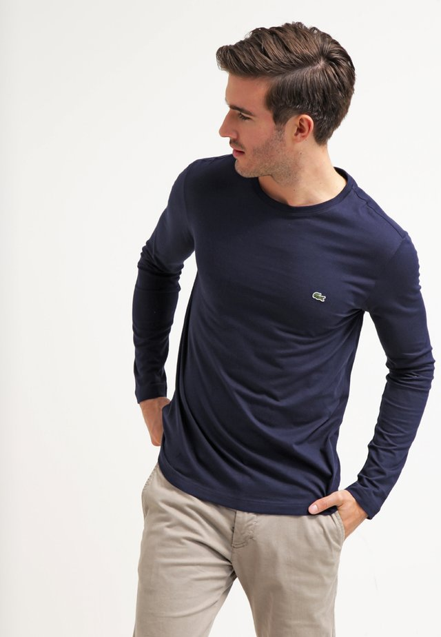 Langærmede T-shirts - navy blue