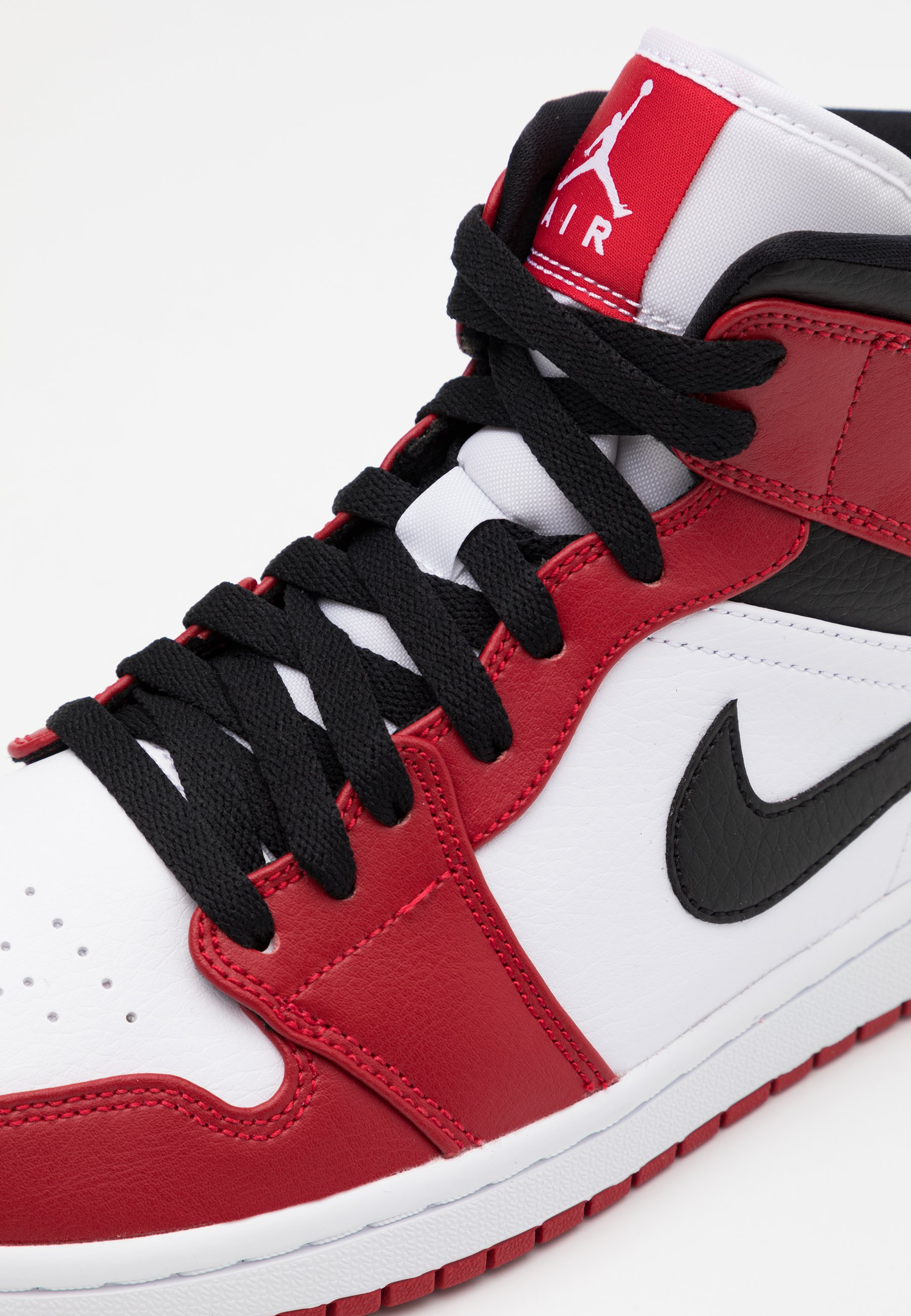 AIR 1 MID - High-top trainers - white/gym red/black