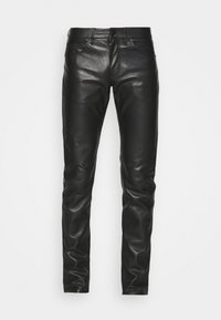 KARL LAGERFELD - PANTS - Spodnie skórzane - black - 3