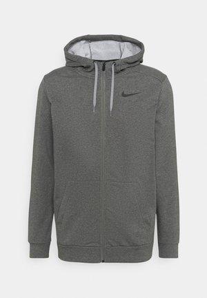 Zip-up sweatshirt - charcoal heather/black