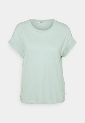 ROUNDNECK TURN UP SLEEVE - Basic T-shirt - light carib