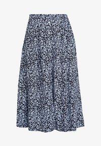 Moss Copenhagen - CELINA MOROCCO SKIRT - A-line skirt - blue - 3