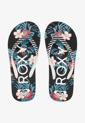 PEBBLES  - T-bar sandals - black multi