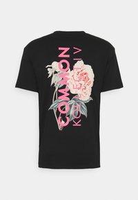 Common Kollectiv - FLORAL UNISEX - Camiseta estampada - black - 1