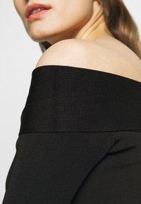 Victoria Beckham - COMPACT SHINE BARDOT FITTED DRESS - Shift dress - black - 3