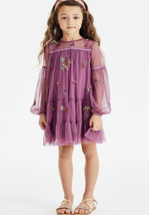 TIERED EMBROIDERED  - Day dress - pink