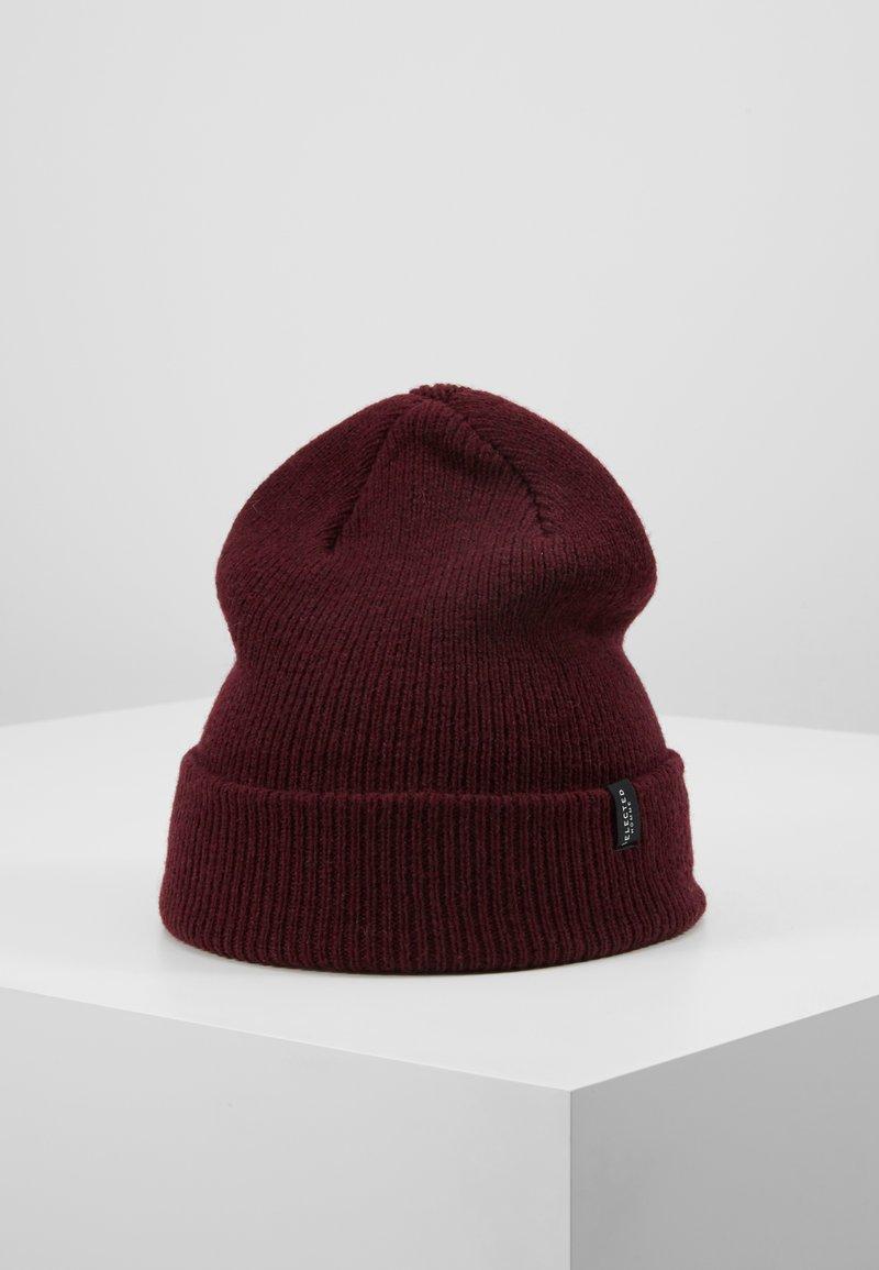 Selected Homme - SLHNEWWOOL BEANIE - Bonnet - burgundy