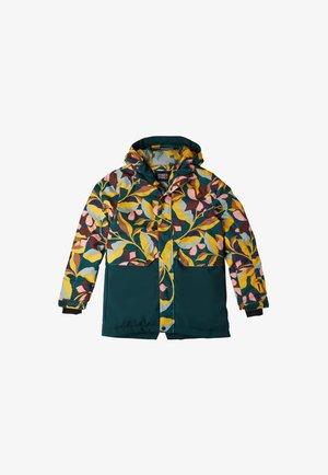 ZEOLITE  - Snowboard jacket - green aop w/ pink or purple