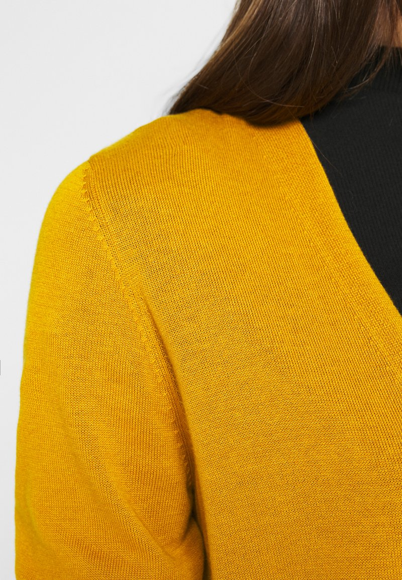 s.Oliver LANGARM - Strickjacke - yellow/gelb fQGHp3