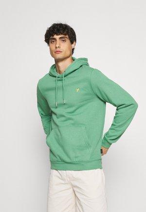Džemperis su gobtuvu - green