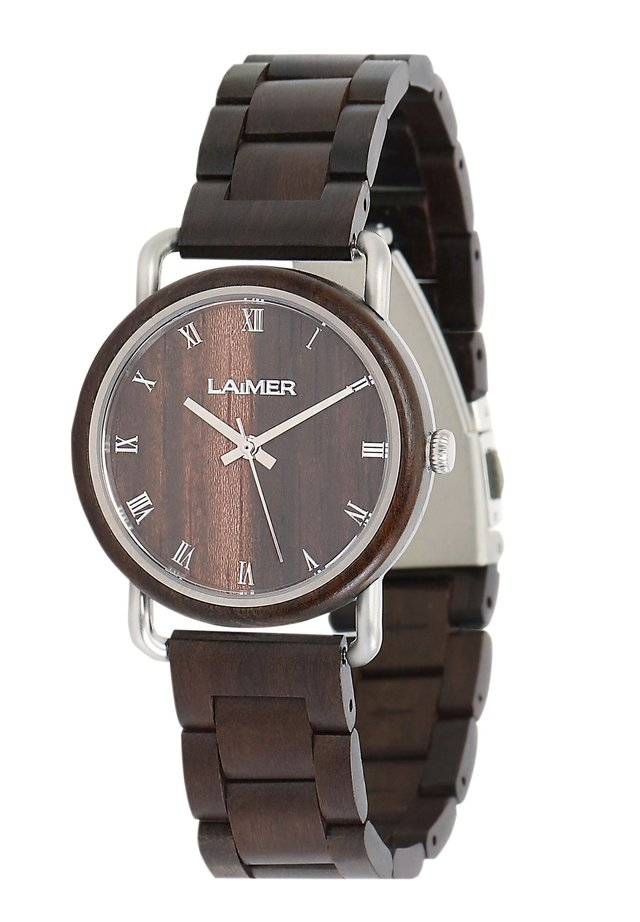 LAIMER QUARZ HOLZUHR - ANALOGE ARMBANDUHR GERDA - Montre - brown