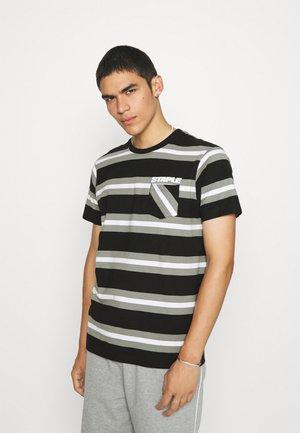 STRIPED POCKET TEE UNISEX - T-shirt print - black