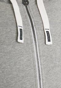 TOM TAILOR - Zip-up hoodie - middle grey melange - 2