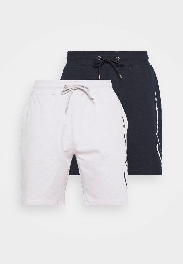 SCRIPT 2 PACK  - Teplákové kalhoty - navy/white