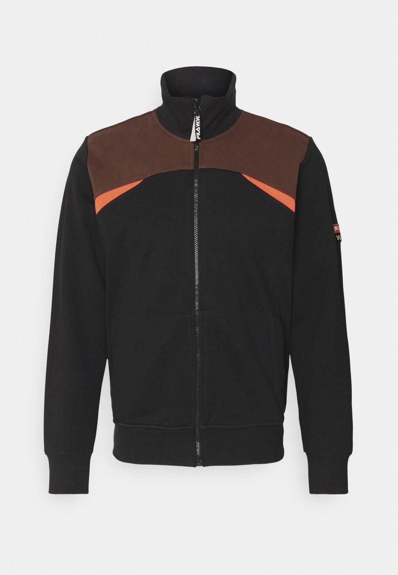 Fila - ANDRE - Training jacket - black beauty/potting soil