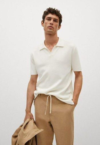 FLUIDE LIN - Polo shirt - off white