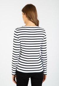 Armor lux - CROZON MARINIÈRE - Long sleeved top - blanc/rich navy - 1
