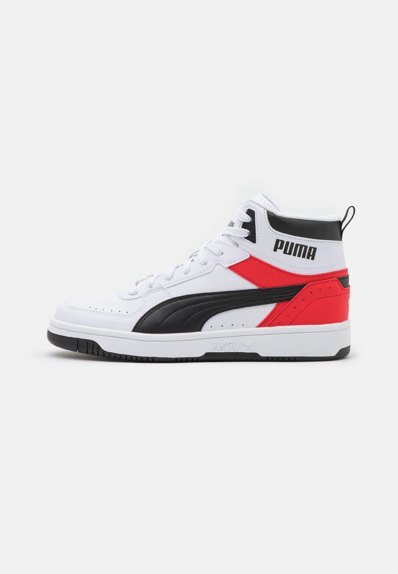 Puma - REBOUND JOY UNISEX - Zapatillas altas - white/black/high risk red