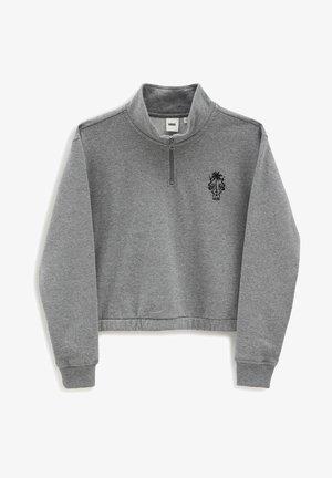 WM SURF SUPPLY HALF ZIP MOCK - Sweatshirts - cement heather