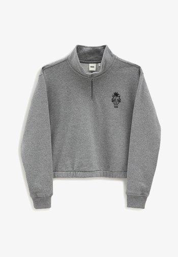 WM SURF SUPPLY HALF ZIP MOCK - Sweatshirt - cement heather