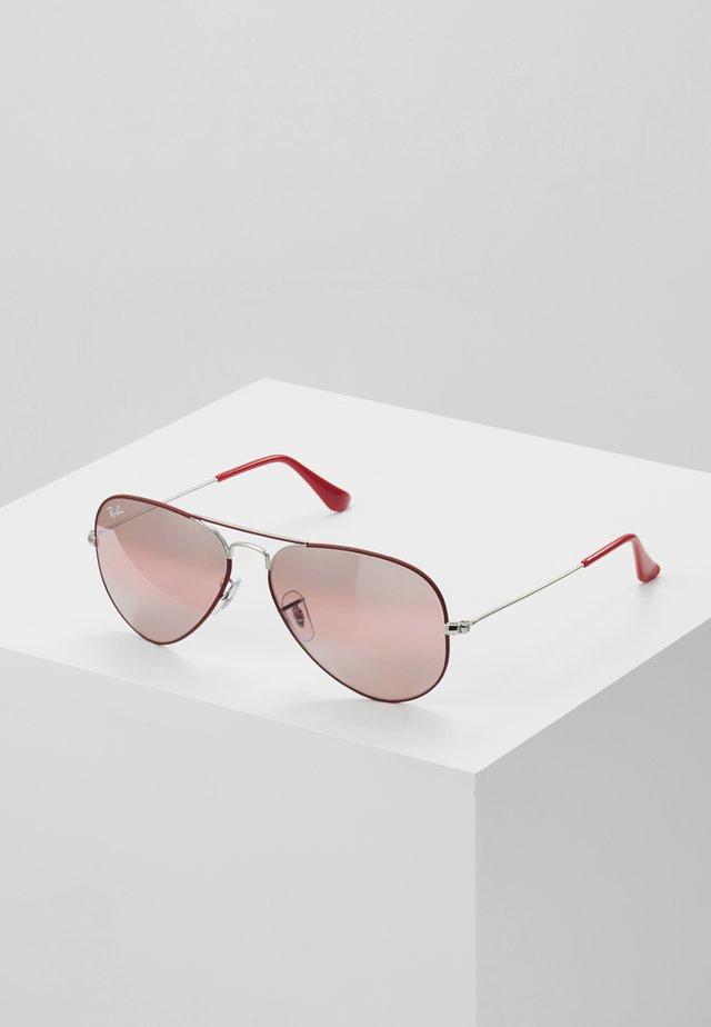 0RB3025 AVIATOR - Okulary przeciwsłoneczne - silver-coloured/bordeaux