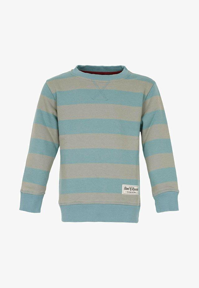 BAND OF RASCALS SWEAT STRIPED - Sweatshirts - arctic-blue-moos