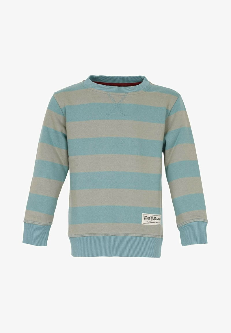 Band of Rascals - BAND OF RASCALS SWEAT STRIPED - Sweatshirt - arctic-blue-moos
